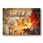 Be Thankful Rustic Thanksgiving Greeting Card